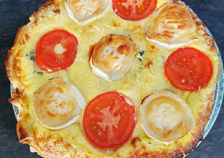 Recette: Savoureux Tarte Courgette, Tomates, Chèvre 😋