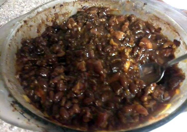 Easiest Way to Make Super Quick Homemade twice cooked baked beans