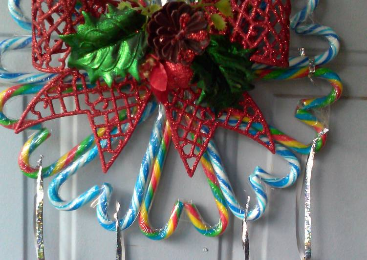 Recipe: Delicious candy cane christmas wreath