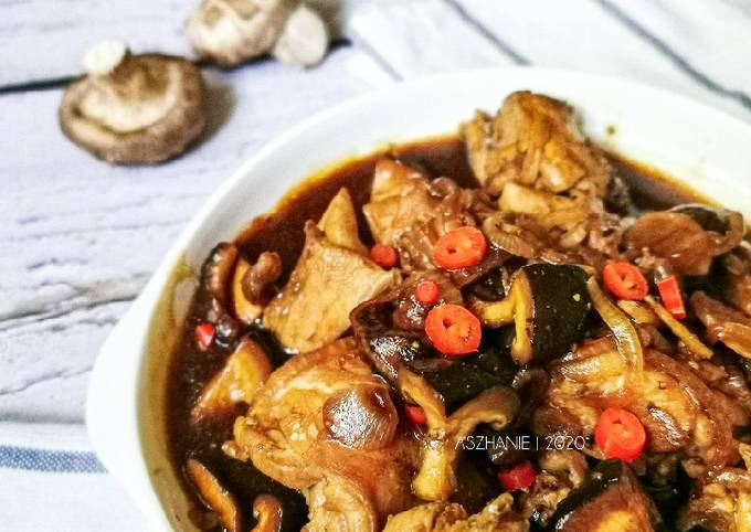 [ Ayam] Ayam kicap cendawan shitake