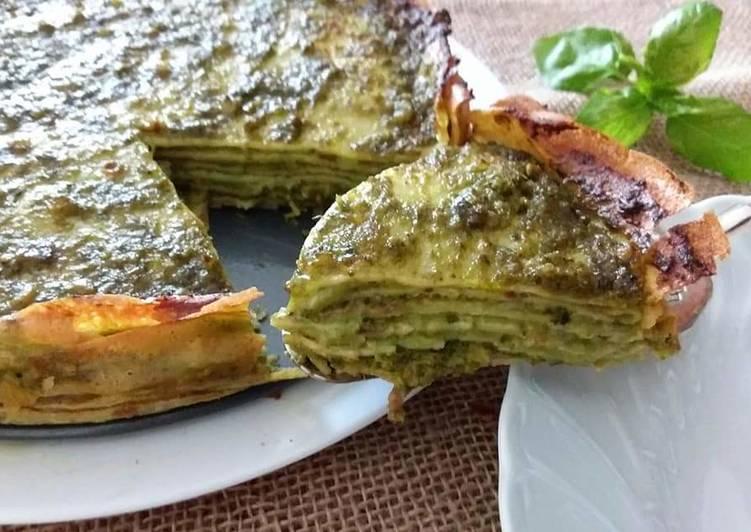 Ricetta Crespelle al pesto gratinate in forno