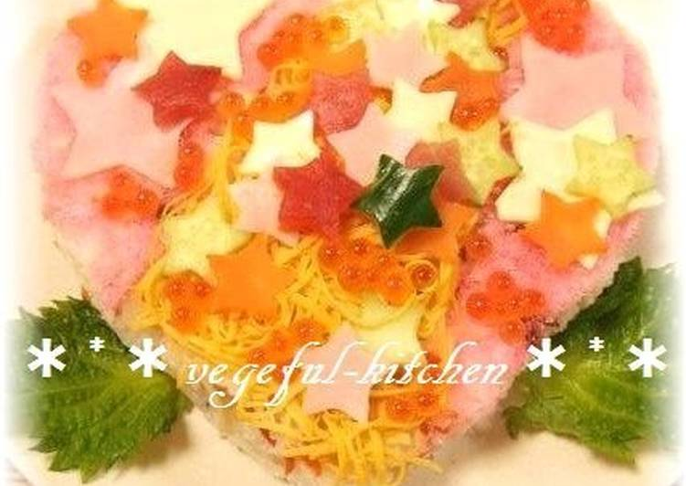Simple Way to Prepare Ultimate Starry Chirashi Sushi Cake For Tanabata Festival