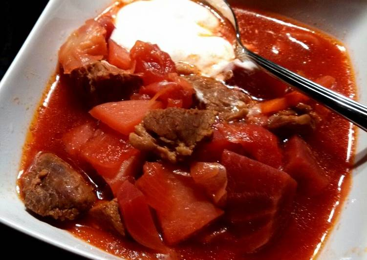 Russian Borsht  Stew