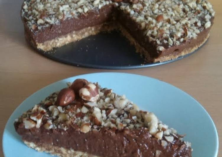How to Prepare Ultimate Vickys No-Bake 'Nutella Cheesecake', GF DF EF SF Nut-Free Option