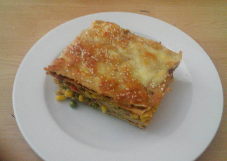 Low- histamine vegetable and cheese pancakes lasagna