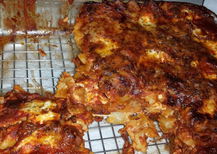 Recipe of Speedy Bow tie pasta bake