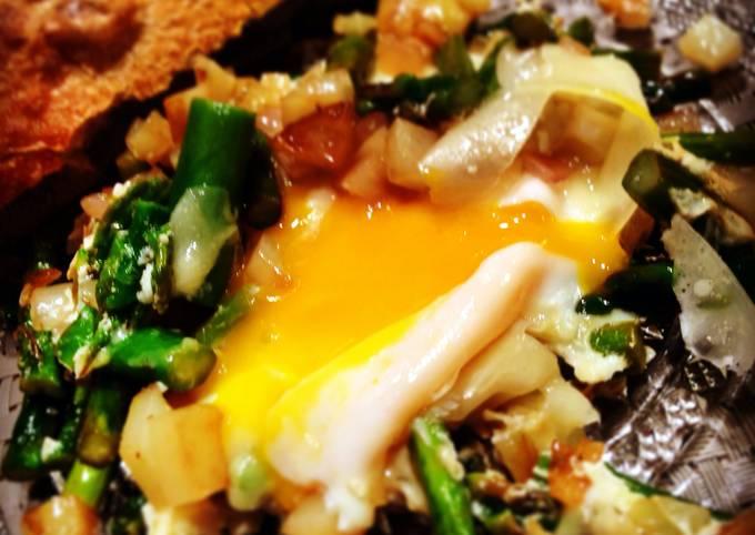 Asparagus Parmesan Sunny Side Eggs