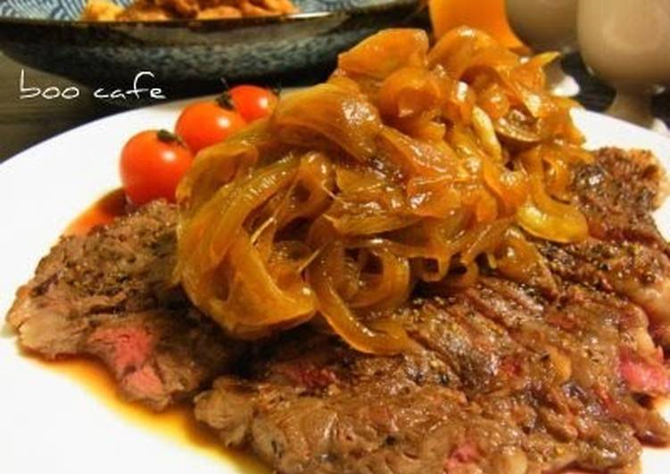 Recipe of Award-winning Bistro Beef Steak with Onion Sauce