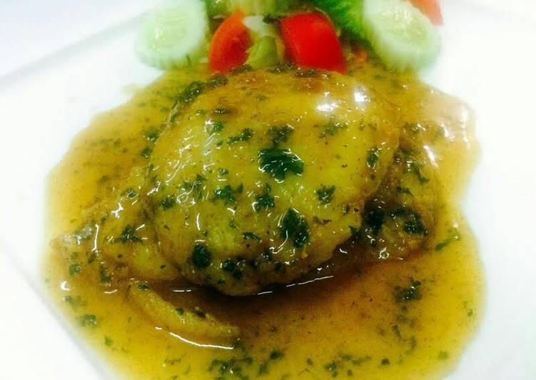 Kanya's Fish Fillets in White wine sauce