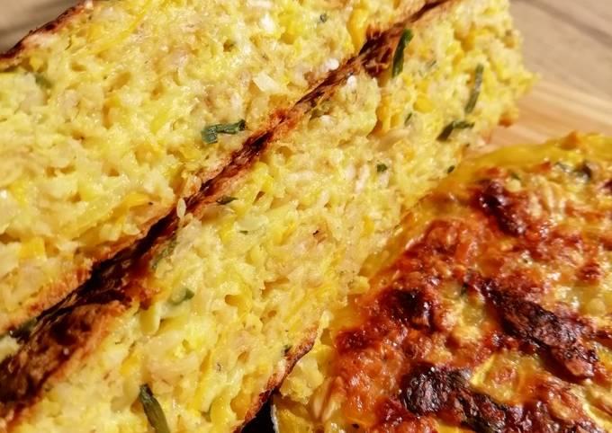Galette healthy courgette jaune / avoine gluten free