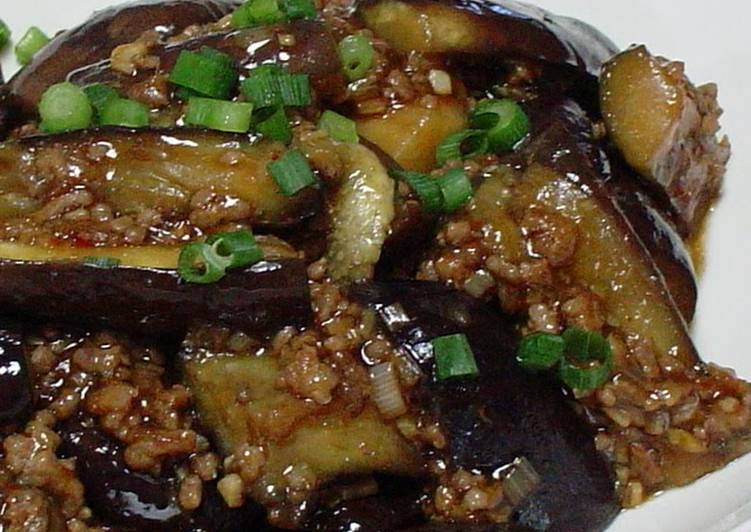 30 Minute Recipe of Super Quick Homemade Our Family's Mapo Eggplant Recipe