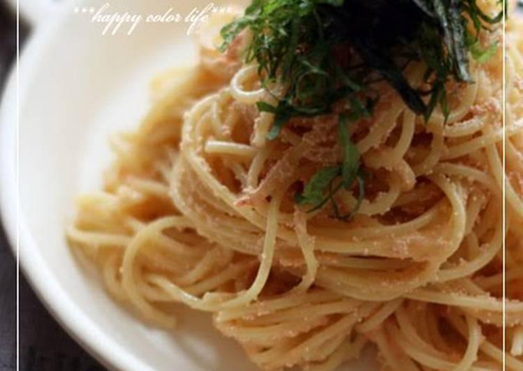 Easy Creamy Tarako Spaghetti