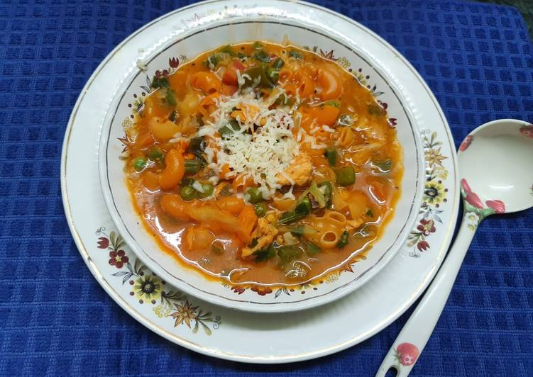 Steps to Prepare Homemade Italian Chicken Minestrone Soup