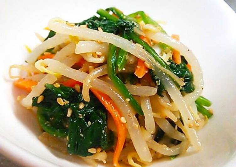 Mixed Bean Sprout Namul Using a Namul Base