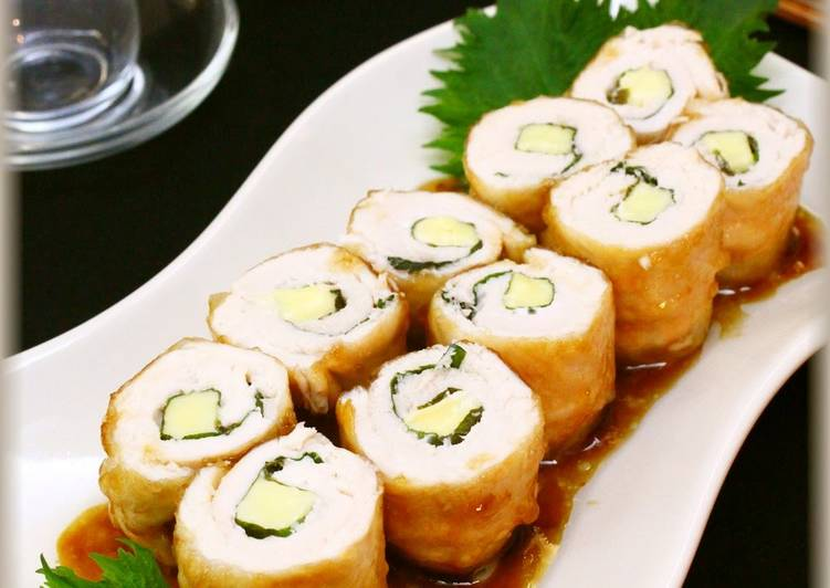 Step-by-Step Guide to Prepare Favorite Sweet and Salty ♪ Shiso and Cheese Chicken Breast Tender Rolls
