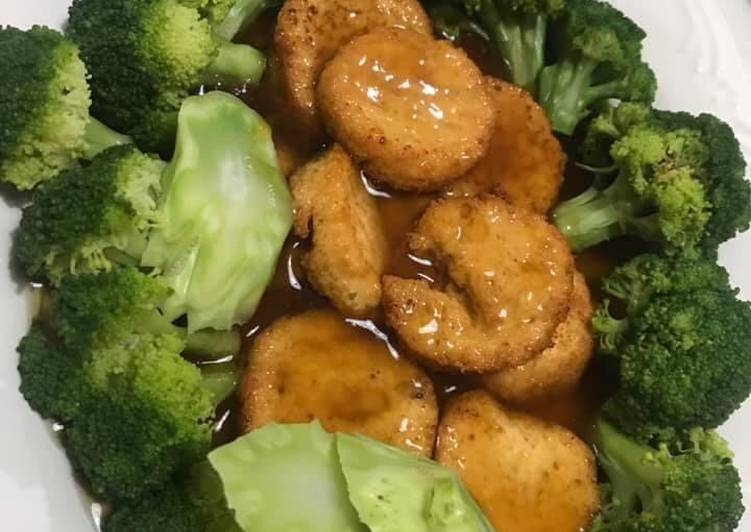 Tahu jepang brokoli saus tiram