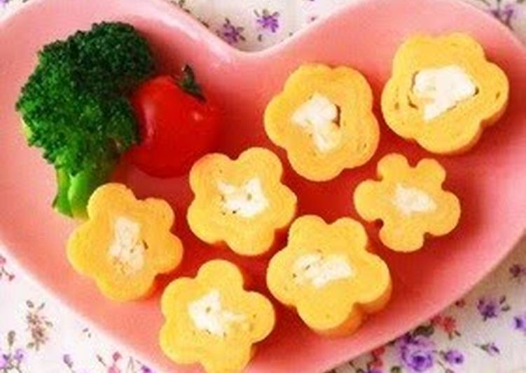 Steps to Make Super Quick Homemade Flower Shaped Tamagoyaki Using Bamboo Skewers – For Bento Decorations