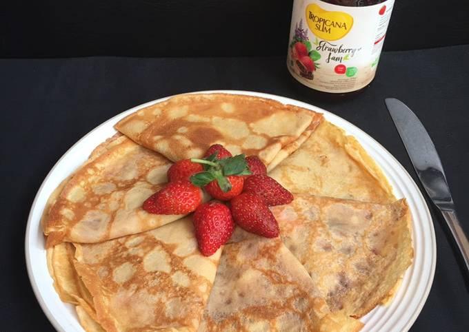 Strawberry Jam Pancakes