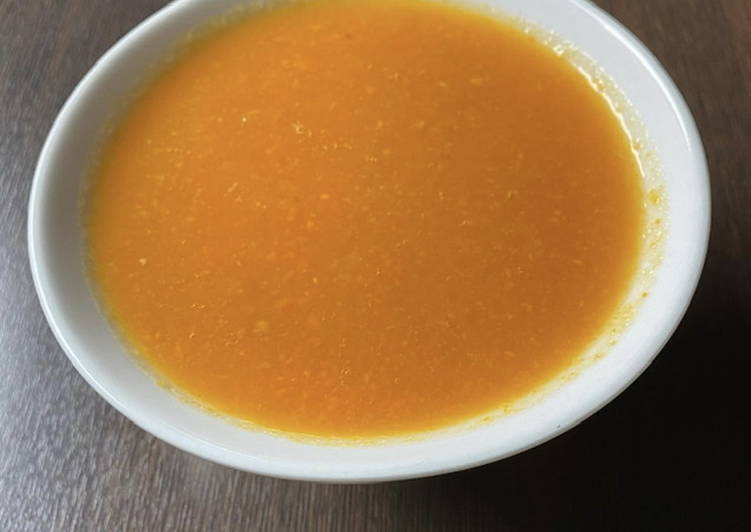 Potage potiron, carottes et gingembre