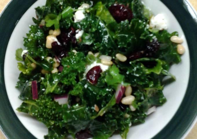 Cranberry Kale Salad with Honey Lemon Vinaigrette