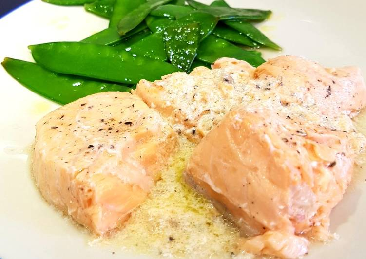 Easiest Way to Prepare Speedy Sous vide salmon in a butter, ginger and lemon sauce