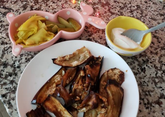 Eggplant 🍆 with garlic and vinegar 😋