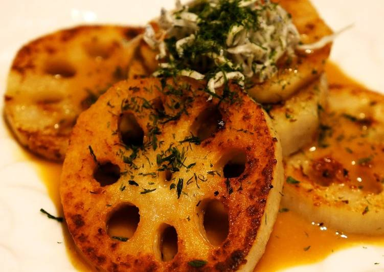 Steps to Prepare Perfect An Easy and Quick Dish! Crispy Lotus Root Steak