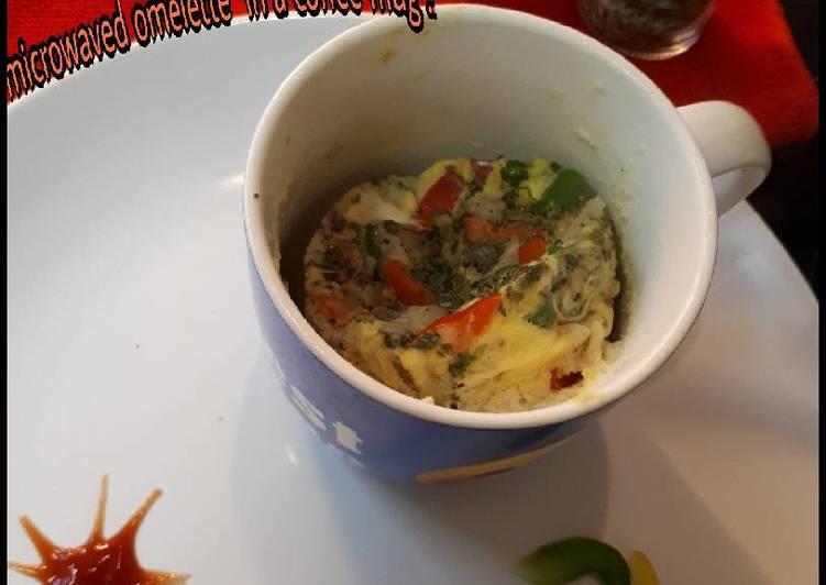 #EggRecipe Microwaved omelette in a coffee mug
