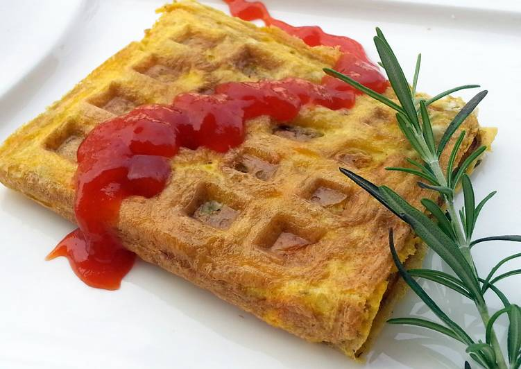 How to Cook Yummy Omelette Waffle