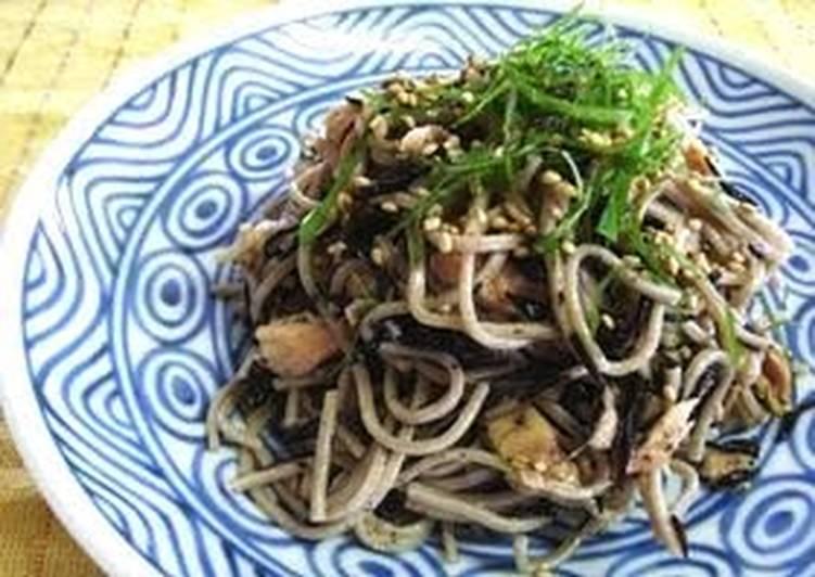 Light and Refreshing Hijiki Seaweed and Tuna Soba Noodle Salad
