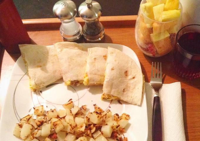 Sausage Egg And Cheese Breakfast Quesadillas