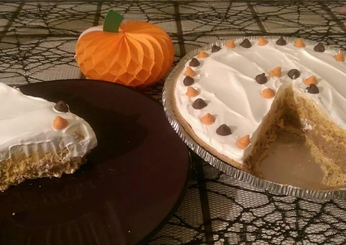 Chocolate Pumpkin Pudding Pie
