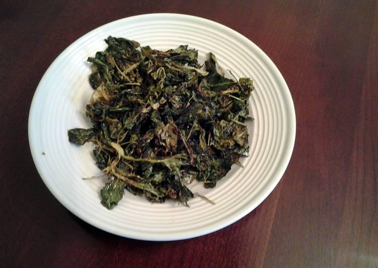 Roasted Garlic and Chili Parmesan Kale