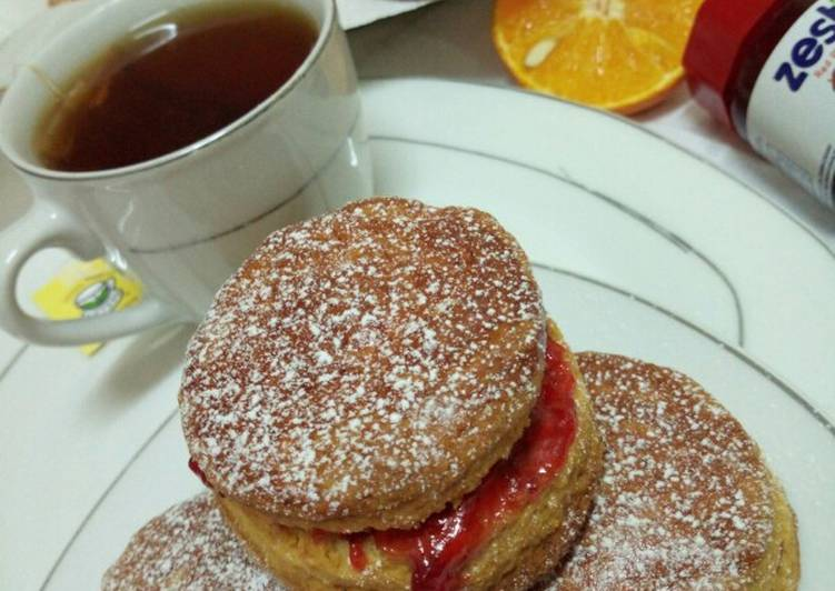 Orange English tea scones
