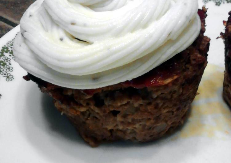 Simple Way to Make Super Quick Homemade Meatloaf Cupcakes W/ Mashed Potato Frosting