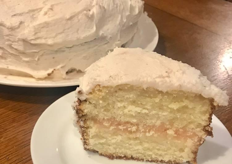 Raspberry-White Chocolate Cream Cake