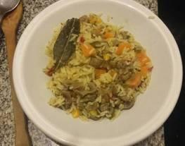 Guiso de riñones con arroz