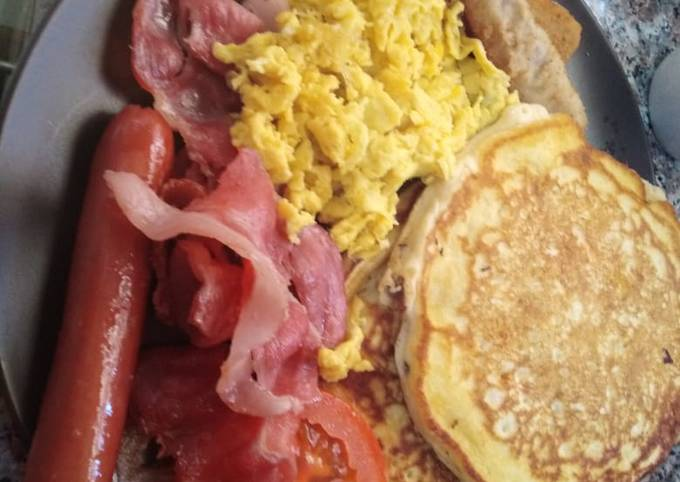 Pancakes with different sides