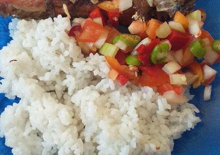 Goreng kering ikan kembung teman salad