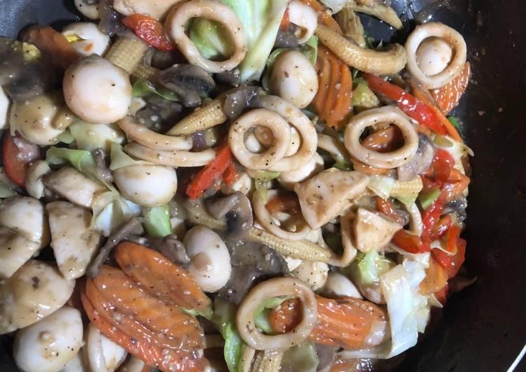Chopsuey (Vegetables with Squids)