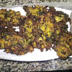 Buñuelos de acelga, espinaca y zanahoria