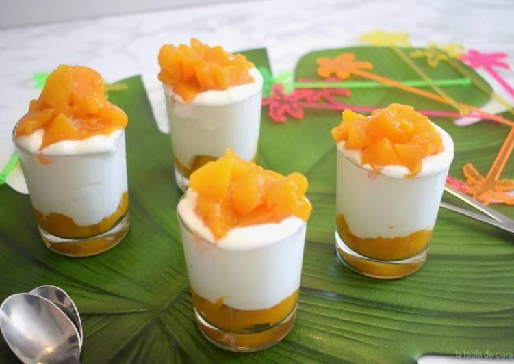 Verrines mangue fromage blanc