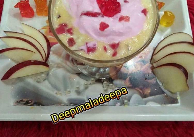 Apple kheer wth icecream