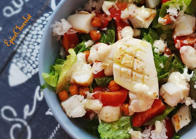 Recette Parfait Salade verte a l'encornet