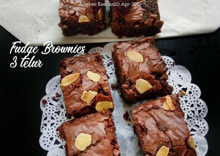 Resep Fudge Brownies 3 Telur Oleh Angken Keenan Cookpad