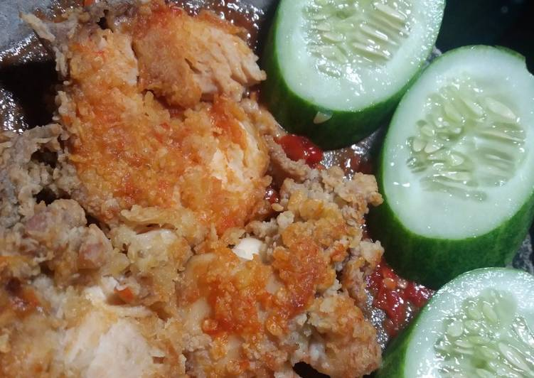 Ayam geprek ala ayam goreng tepung bunda xanderkitchen