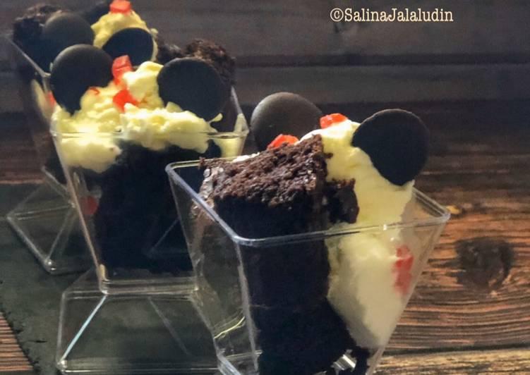 Brownies Ice Cream Vanila - resepipouler.com