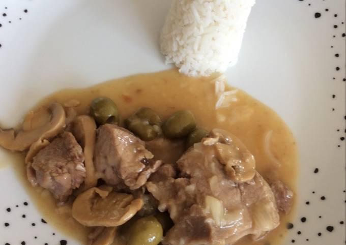 Blanquette de veau champignons et olives au cookeo