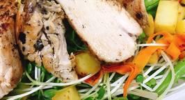 Hình ảnh món Salad ức gà áp chảo eat clean - giảm cân