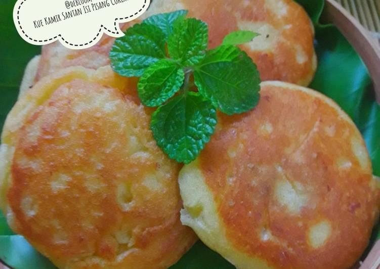 465. Kue Kamir Santan Isi Pisang Coklat #RabuBaru #BikinRamadanB - cookandrecipe.com